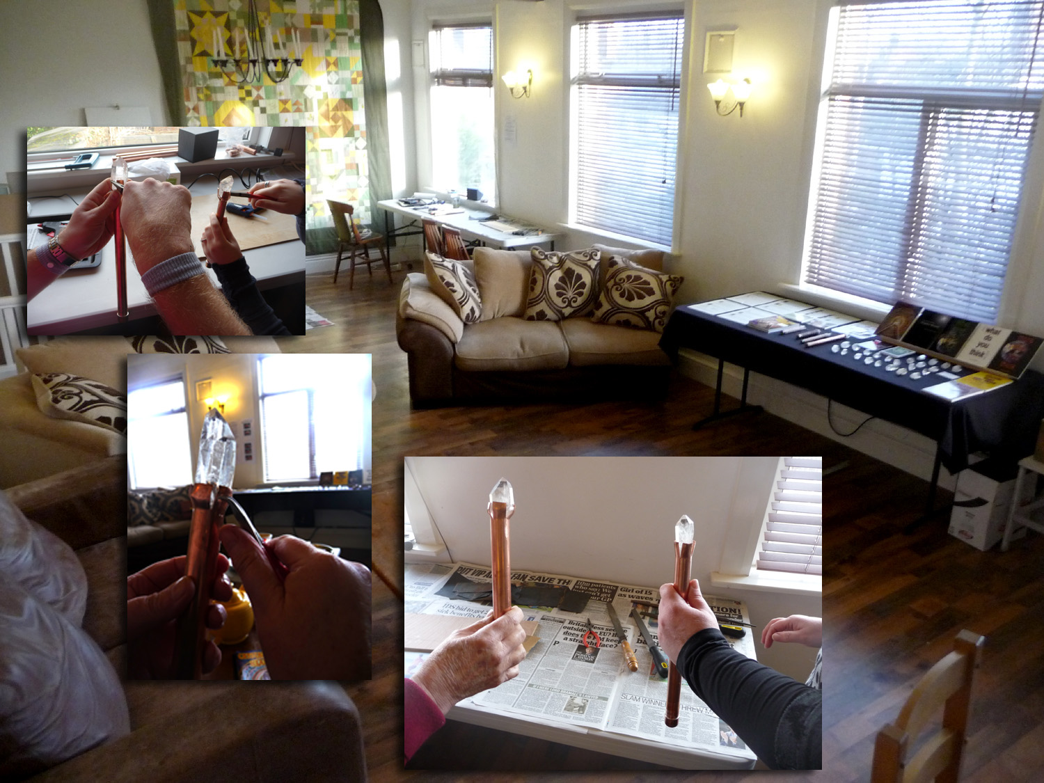 Crystal Wand and Healing Workshop at riversMEET